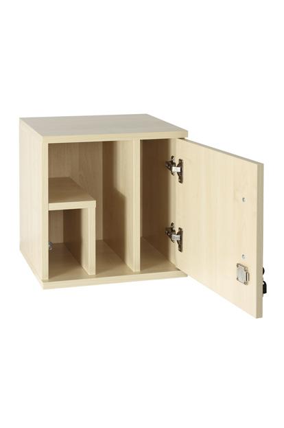 MK01 stevige medicijnkast 38x38x35 cm voorzien van slot inclusief ophangsysteem melamine 110 graden draaiende scharnieren