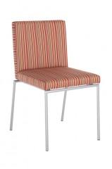 Luka 3s stoel stalen buisframe 16mm 20mm mogelijk epoxy verchroomd of mat RVS gestoffeerde kuip