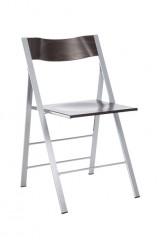 Pocket 3B klapstoel Beuken beitskleur Wenge rug en zit andere kleuren op aanvraag stalen frame glad of mat optioneel blank beuken rug en zit bijbehorend ophangbeugel leverbaar