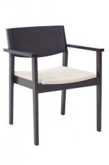Ruben 2A zorgstoel actieve zit massief beuken ergonomische armleggers gescheiden rug en zitting gestoffeerd stapelbaar rijkoppeling