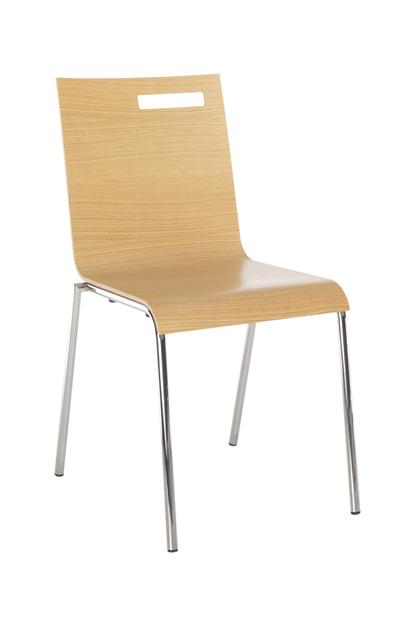 Tommy-1S-Eiken stoel beuken multiplex kuip afwerking eiken fineer ook mogelijk in gestoffeerd of HPL stalen frame RVS of epoxy stapelbaar