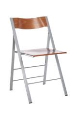 Pocket 3A klapstoel Beuken beitskleur Kersen rug en zit andere kleuren op aanvraag stalen frame glad of mat optioneel blank beuken rug en zit bijbehorend ophangbeugel leverbaar